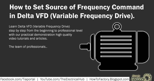 How To Set Source Of Frequency Command In Delta VFD - Marine