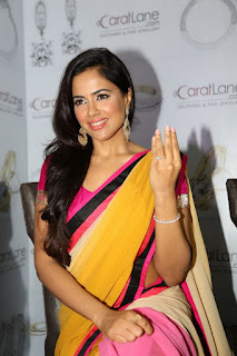 Telugu actress Sameera Reddy saree pics