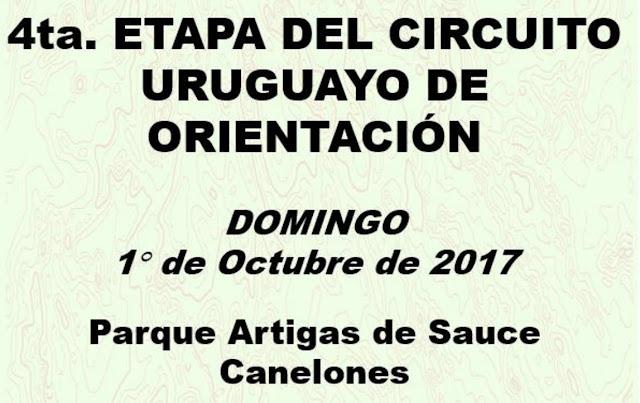 4ta etapa del Circuito Uruguayo de Orientación en Sauce (Canelones, 01/oct/2017)