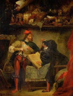 """""""Fausto y Mefistófeles"""", E. Delacroix"""