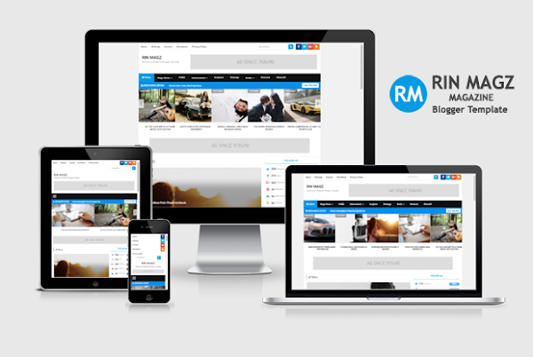 Rin Magz Responsive Magazine Blogger Template
