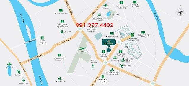 Vị trí Hope Residences Phúc Đồng – Vị trí chiến lược quận Long Biên