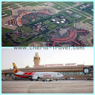 Soekarno-Hatta International Airport dan Abu Dhabi International Airport