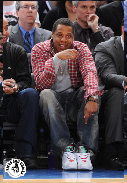 0fd2ccf13eee Jay Z is either headed to or from the game and a shot was snapped! The  outfit is fresh as Mr Hip Hop shoes himself steps out in a fresh pair of Air  Jordan ...
