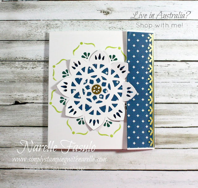 Learn how easy it is to make stunning cards like this, with my Stamping By Mail classes. See more information here - http://www.simplystampingwithnarelle.com/p/stamping-by-mail.html