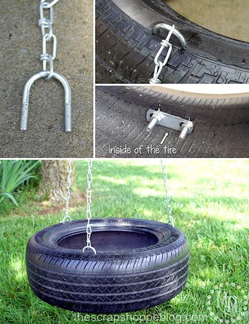 DIY tire swing supplies