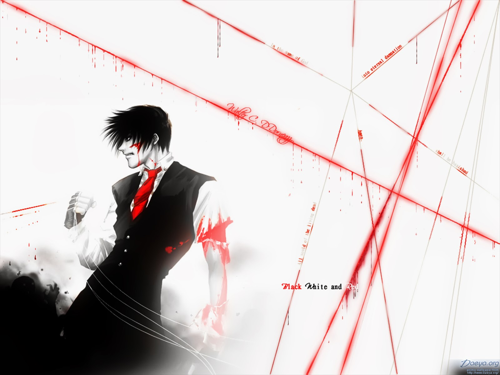 Hellsing wallpaper hellsing wallpaper black white and - Anime hellsing wallpaper ...