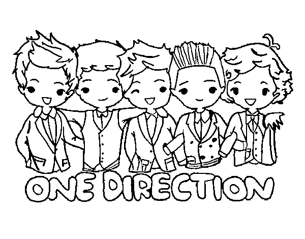 The Holiday Site Coloring Pages Of One Direction Free And Downloadable