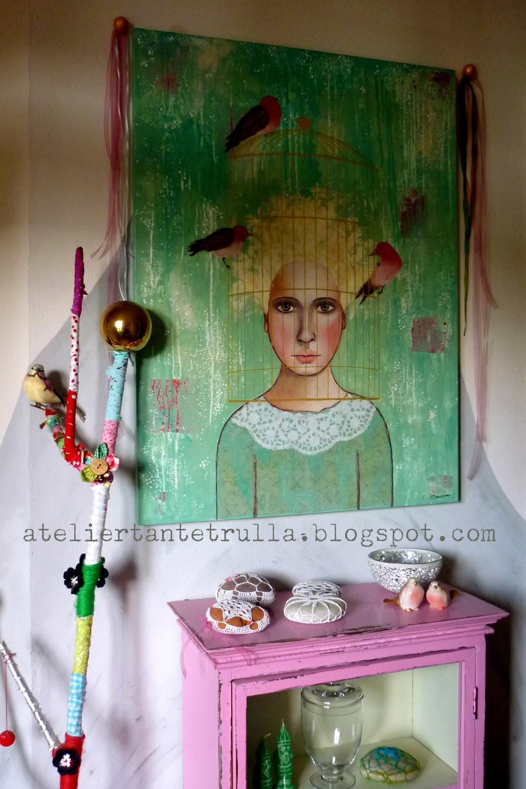 atelier tante trulla verkauft original gem lde. Black Bedroom Furniture Sets. Home Design Ideas