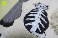 Stoff: Damero Rollentasche für Gelstift Schreibzubehör gerollter Halter mit Leiwand für Buntstift Reiseorganisator-Beutel für Künstler, Mehrzweck (keine Bleistifte im Lieferumfang enthalten), 48 Löcher, Katzen