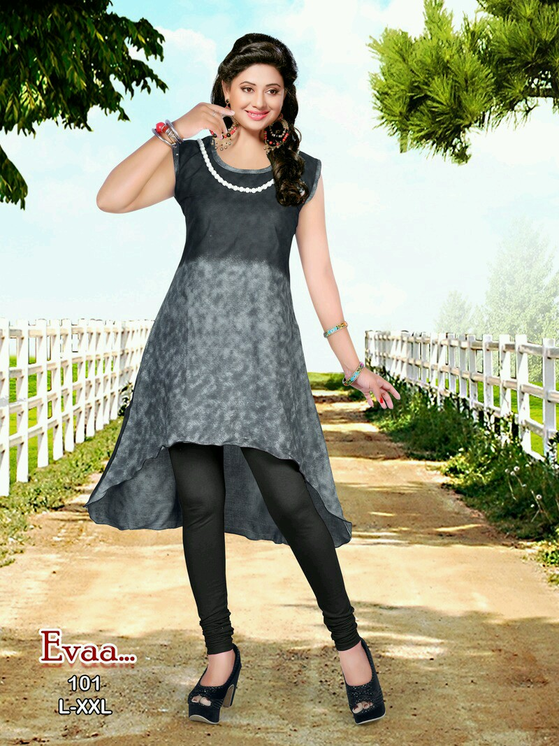 Evaa – New Party Wear Printed Stylish Kurti Buy Online