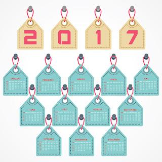 2017カレンダー無料テンプレート141