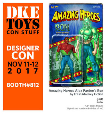 Designer Con 2017 Exclusive Amazing Heroes Alex Pardee's R.O.N. Action Figure by Fresh Monkey Fiction x DKE Toys