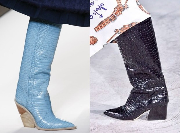 Snake Skin Printed Boots Fall Winter 2018 2019 For Women