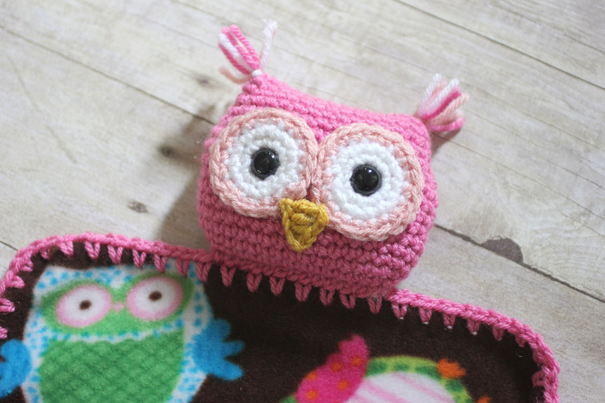 Crochet Owl Lovey Blanket Repeat Crafter Me