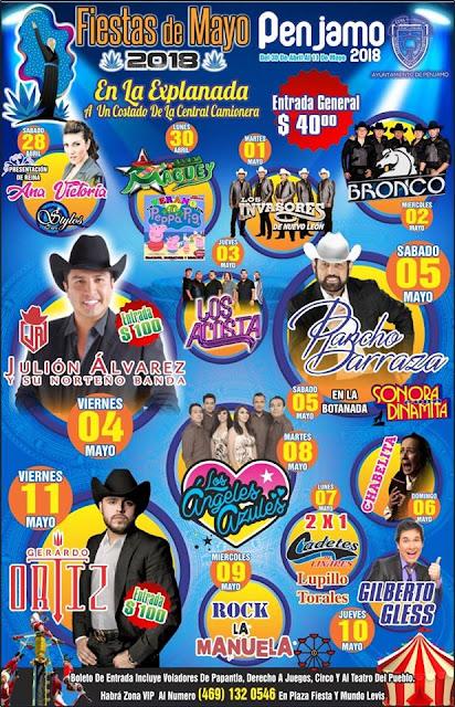 programa fiestas de mayo pénjamo 2018