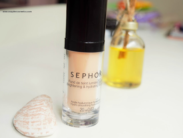 Sephora Brightening and Hydrating Foundation shade medium swatches and review