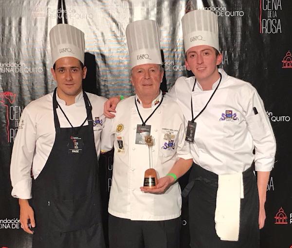 Equipo de Arte Culinario de la USFQ ganó el concurso gastronómico 'Cena de la Rosa'