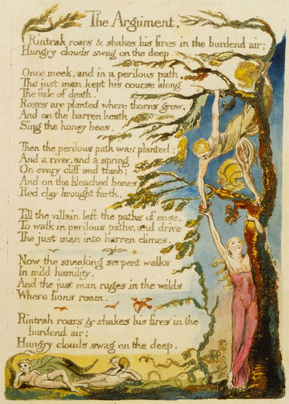 the use of visual representation in the marriage of heaven and hell by william blake William blake is a fascinating character in the world of literature a deeply spiritual man, whose writings seek to promote what he saw as the ideals of christian virtue, but equally antagonistic towards all churches and established expressions of religion.