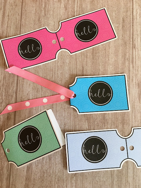 Silhouette portrait, silhouette cameo, print and cut, double sided print and cut cardstock gift tag