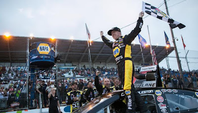 Chris Eggleston celebrates his fourth #NASCAR K&N Pro Series West victory