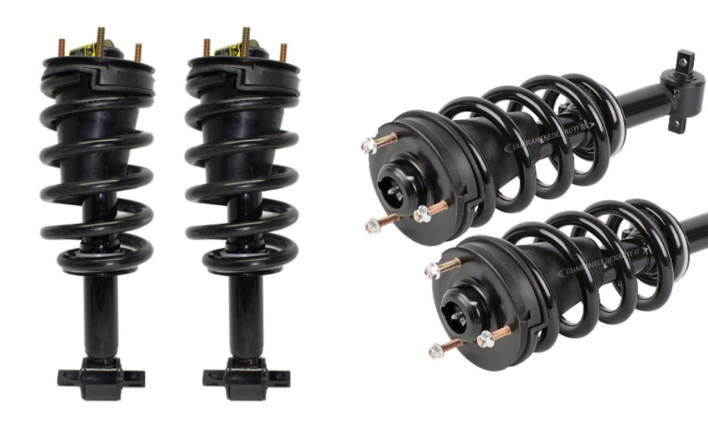 "Detroit Axle - Both (2) Brand New Front Driver and Passenger Side Complete Strut & Spring Assembly [Except Magnetic Ride Control Suspension & Electronic Suspension & 22"" Wheels]"