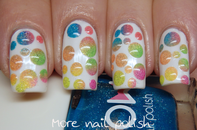 The Digital Dozen does Whimsy - Neon bubbles ~ More Nail Polish