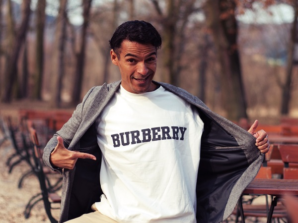 Actor Michael Dierks Burberry