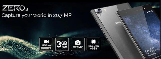 smartphone Infinix Zero 3 camera 20.7 MP