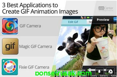 Some of the applications that you can use to create animated GIFs.
