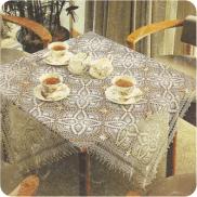 """Mantel Cuadrado """"Escarcha"""" a Crochet"""