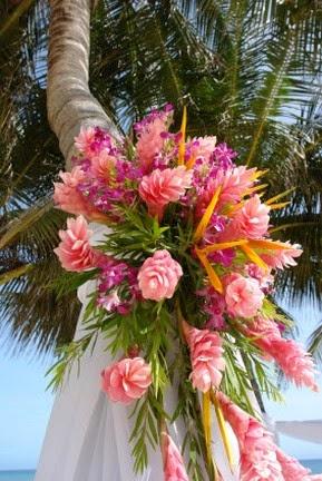 Preparing Flowers for a Tropical Wedding