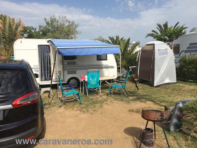 Foto de nuestra Parcela en el Camping Delfín Verde | caravaneros.com