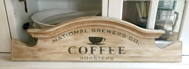 Repurposed Headboard Coffee Sign