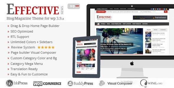 Effective News v6.1.1.1 – Responsive WP News Magazine blog