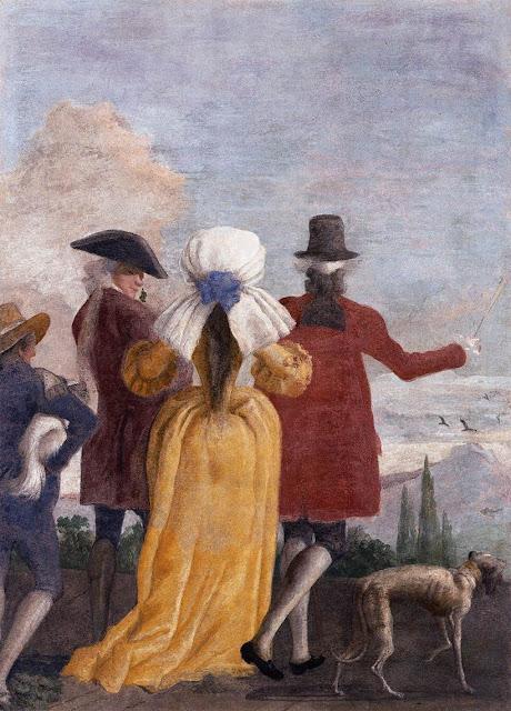 The Promenade by Giandomenico Tiepolo, 1791, Ca' Rezzonico, Venice