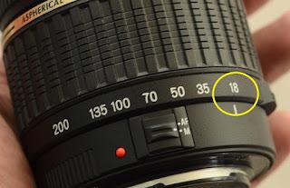 Fenomena Lensa DSLR Blur di fokal Terkecil