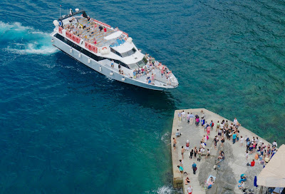 Vernazza, Cinque Terre Ferry Boat Arrival
