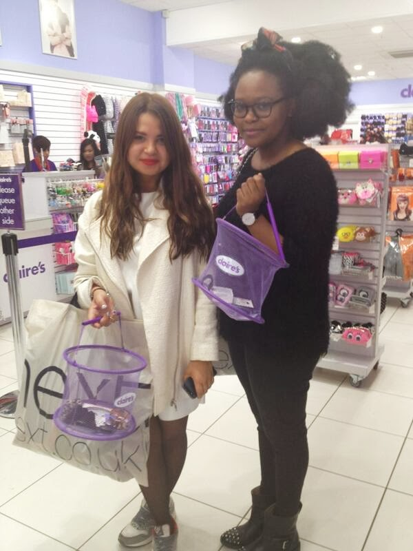 Shopping in CLaires London