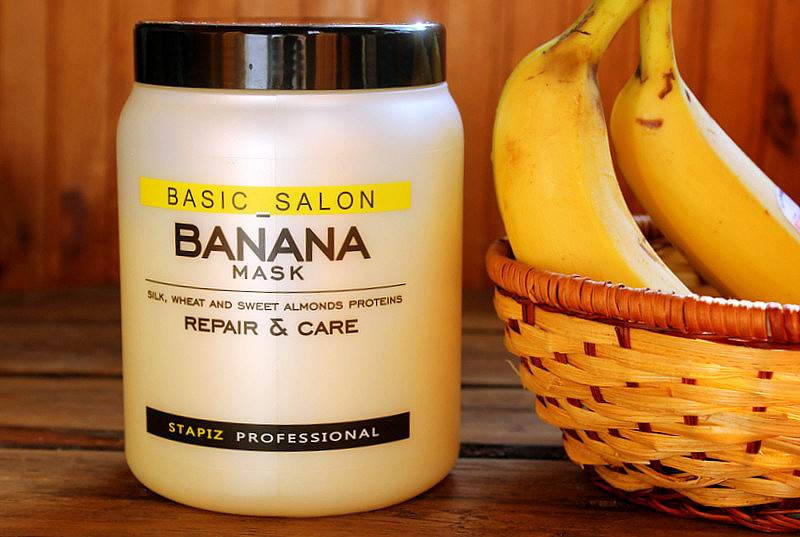 """""""Банановая"""" маска для поврежденных волос STAPIZ Basic Salon Banana Mask / отзывы"""