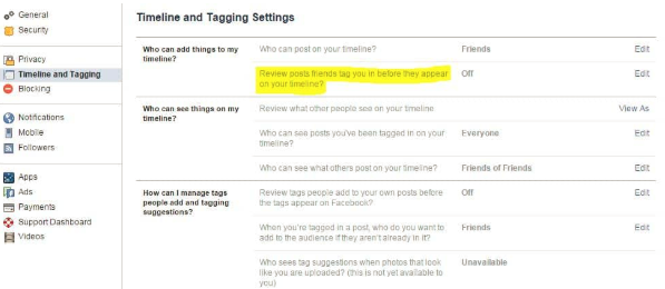 Remove Tag From Facebook