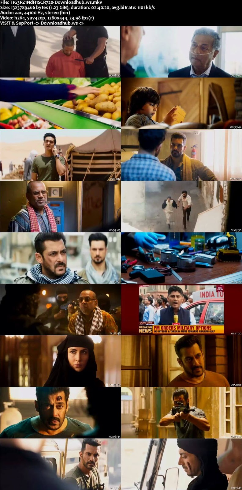 Tiger Zinda Hai 2017 Hindi 720p DVDScr x264