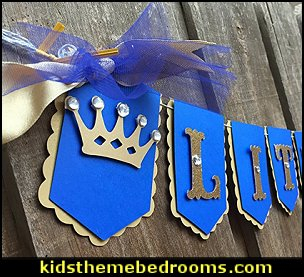 Little Prince, royal theme banner Royal blue and gold
