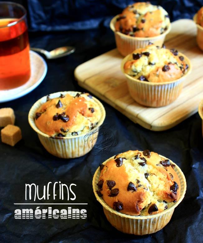 Muffins Americains Aux Pepites De Chocolat Il Etait Une Fois La Patisserie