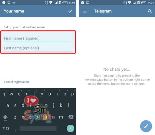 daftar telegram di android