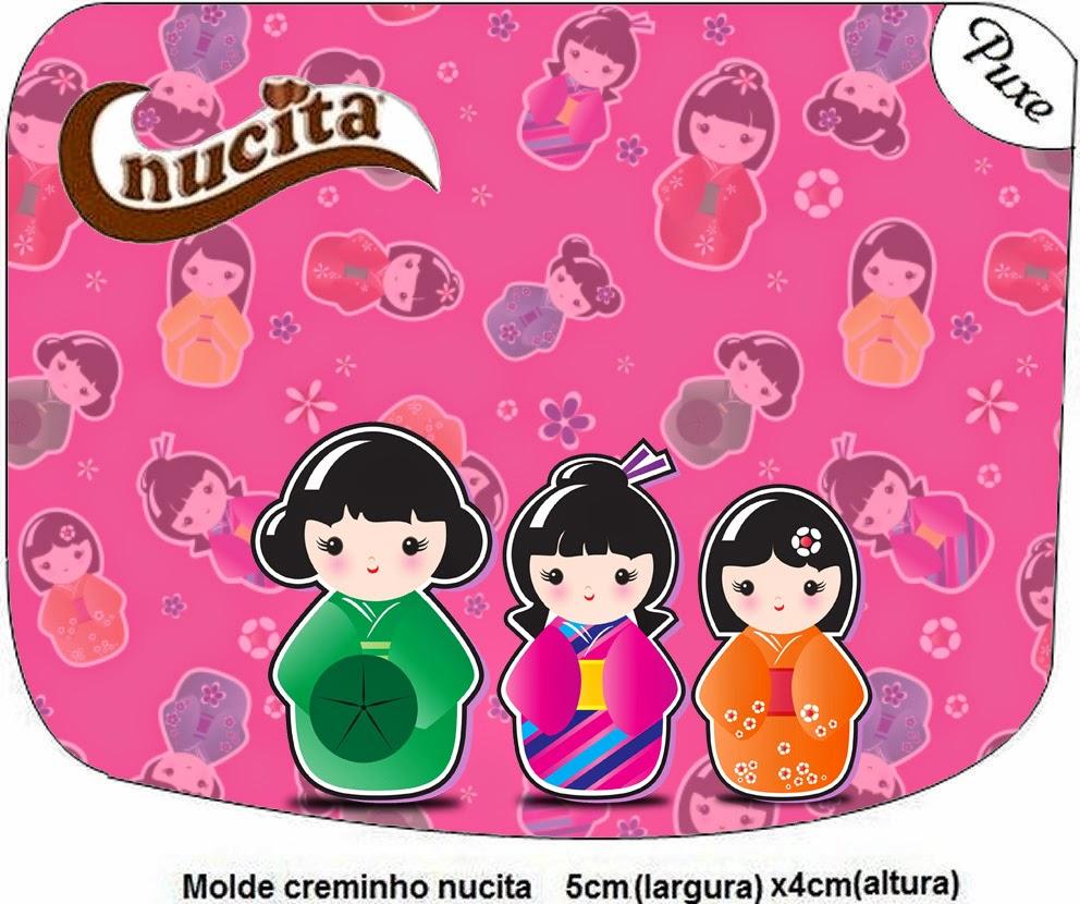Etiqueta Nucita  para Imprimir Gratis de Matrioshkas.