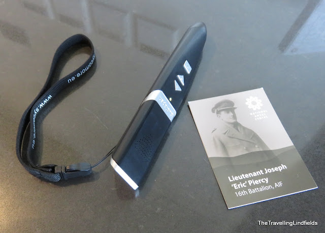 Audio device and QR code card at the National ANZAC Centre