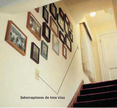 Instalaciones eléctricas residenciales - Apagadores de tres vías en escalera