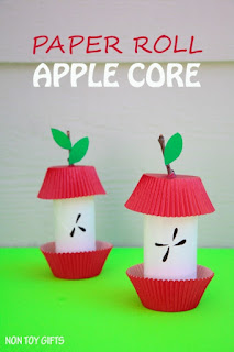 Cardboard Tube Apple Cores