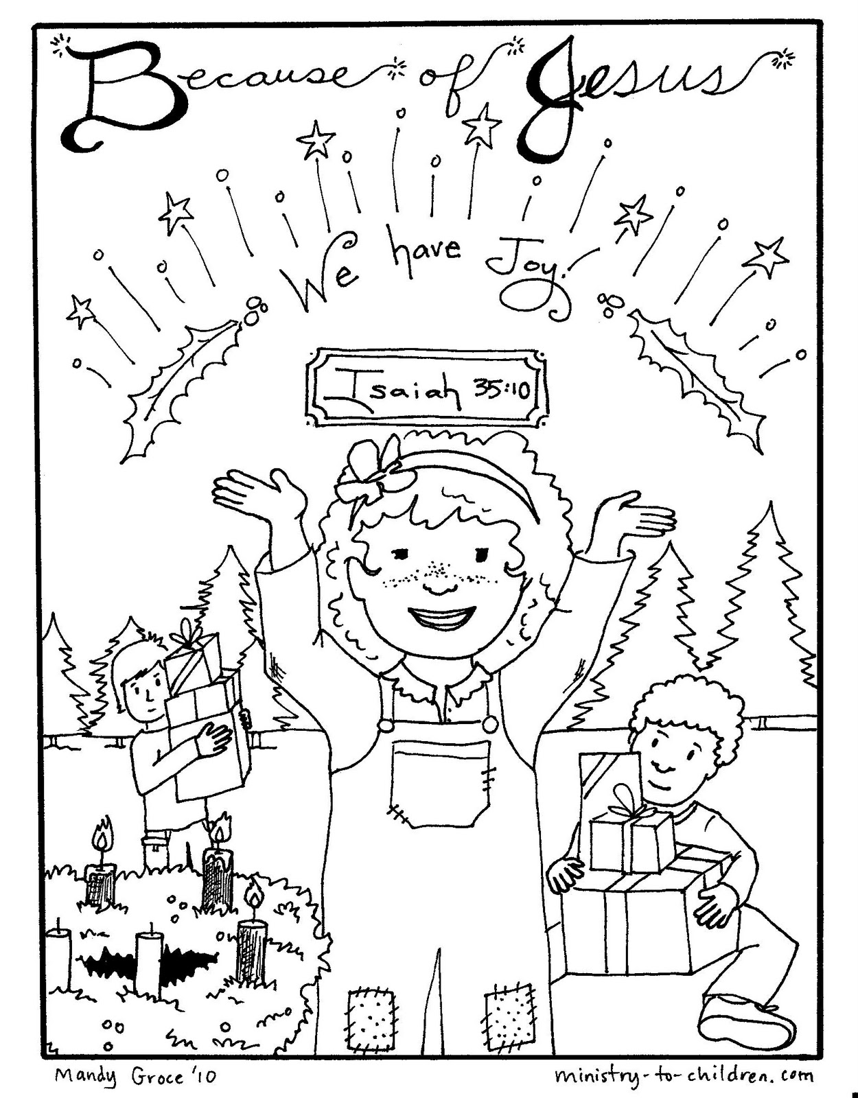 advent coloring pages joy - photo#1